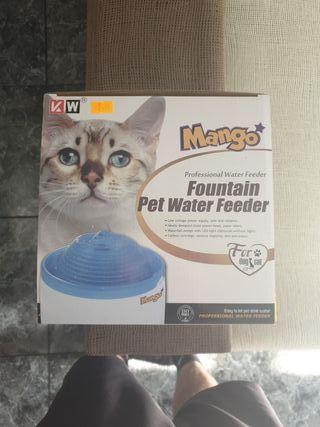 Bebedero fuente de agua para gato o perro