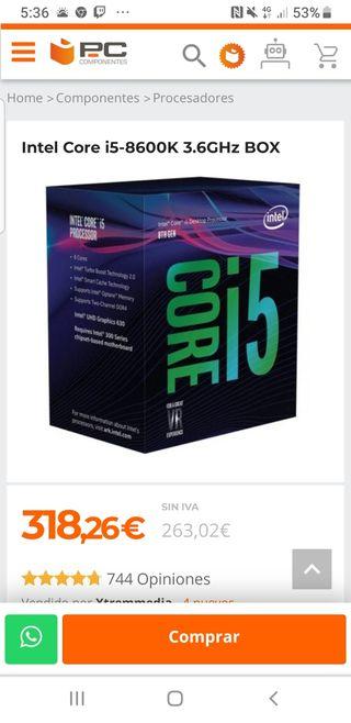 Pc Gaming I5 8600k GTX 1080 8 GB