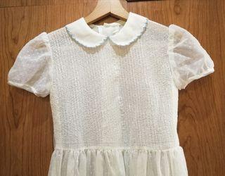 Vestido de comunión vintage.