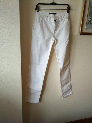 Pantalón blanco Zara Woman talla 38