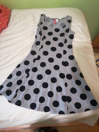 vestido de topos H&M talla XS