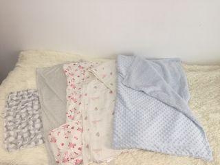 Muselinas bebé y 1 manta