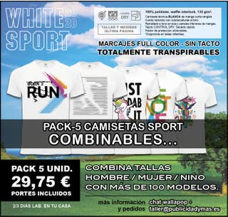 PACK-5 camisetas SPORT - COMBINABLES