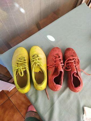 zapatillas de fútbol/ Nike y Adidas