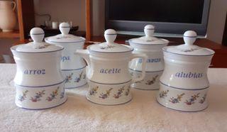 5 Recipientes de cocina de cerámica