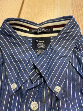 Camisa azul rayas Gant