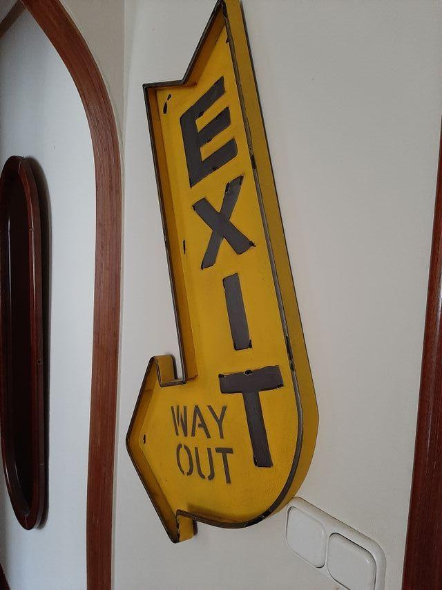 """Señal Vintage """"Exit"""""""