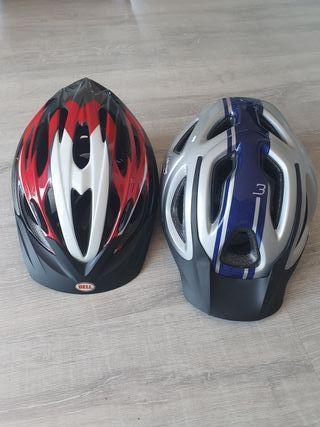 2 cascos de bici