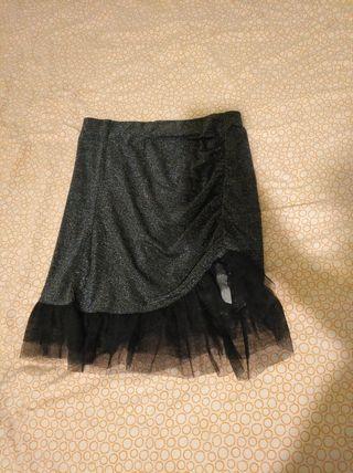 falda de brillos