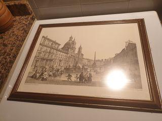 cuadro lamina piazza navona