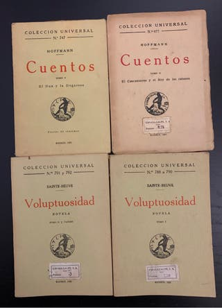 Colección Universal Espasa-Calpe 12 libros