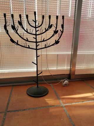 candelabro judio, soporte para velas