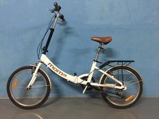Bicicleta plegable marca MOMA