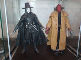 figuras 1/6 V de Vendetta y Hellboy