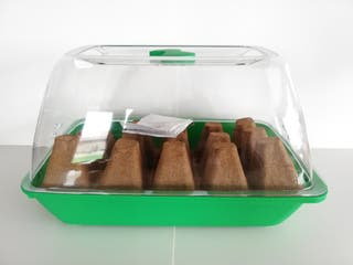 Mini Invernadero 18x28+semillero, Fibra De Coco