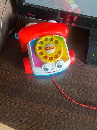 Juguete bebe teléfono de arrastre