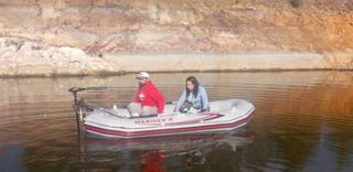 Barca neumatica + motor electrico 40lb + bateria