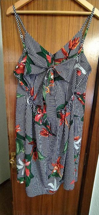 Vestido estampado de verano T46