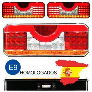 PACK 2 PILOTOS LED NEON 7 FUNCIONES INTERMITENTE DYNAMIC CON LUZ DE MATRICULA POSICION LATERAL AMBAR 12V 24V HOMOLOGADOS