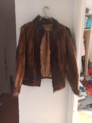 chaqueta de piel de chinchilla y nutria