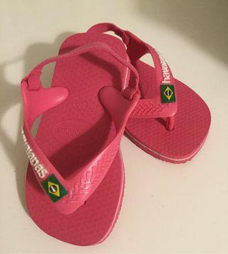 Havaianas bebe niña rosas talla 20