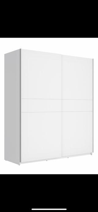 Armario corredero dos puertas blanco