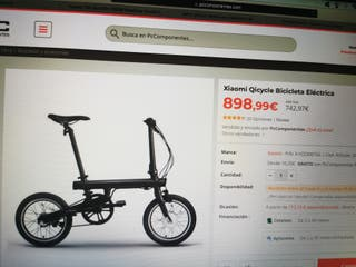 bicicleta eléctrica plegable xiaomi qicycle