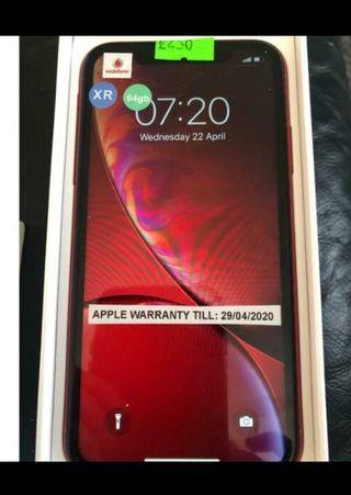 I phone XR red 128 GB