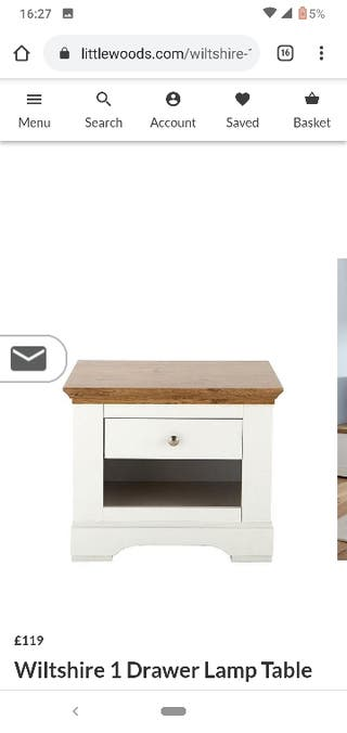 Wiltshire lamp 1 drawer table