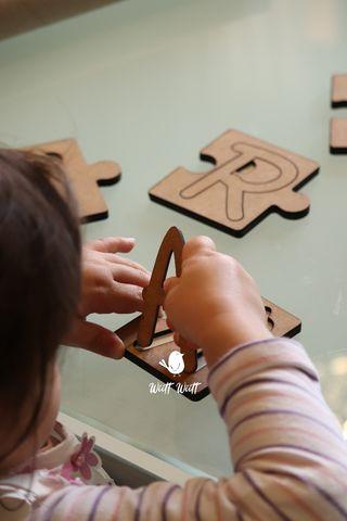 Puzzle madera nombre personalizado Montessori