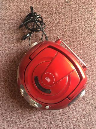 Radiocassette con CD player