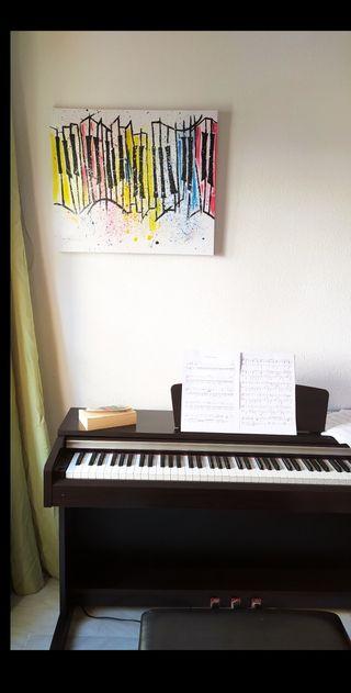 cuadro impresionista piano