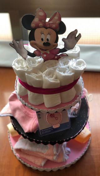 Tarta Minnie pañales