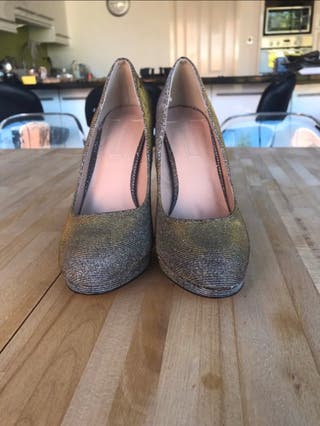 Gold felicity high heels