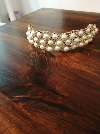 tiara para novias desmontada es un collar y pulser