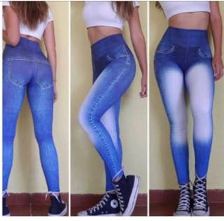 Leggin PUSH UP estampado vaquero talla M