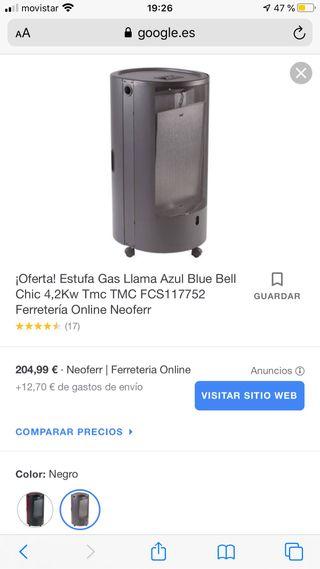 Estufa Gas Llama Azul Blue Bell