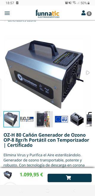 Cañon generador de ozono Funnatic portatil