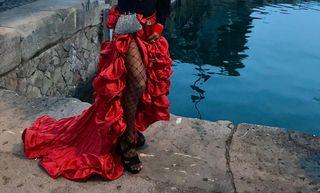 Falda sevillana flamenco #disfrace #drag #rojo