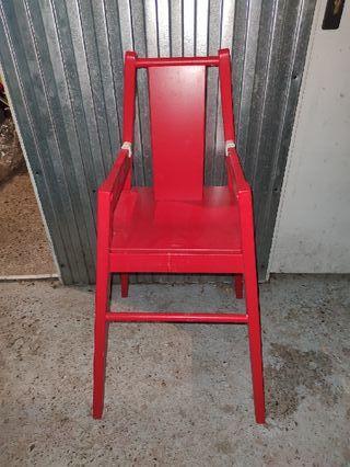trona Ikea de madera
