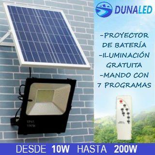 Proyector Solar 10w+ placa solar + mandó
