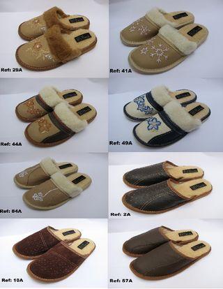 Zapatillas de PIEL NATURAL 100%