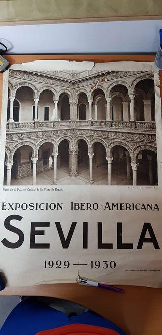 CARTEL ORIGINAL EXPOSICIÓN IBEROAMERICANA SEVILLA