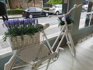 bicicleta de adorno escaparates