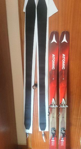 Esquís de travesía + fijaciones + pieles