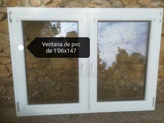 2 ventanas de pvc blancas
