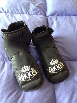 Proteccion pies kickboxing
