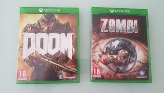 Pack juegos Xbox Doom y Zombi