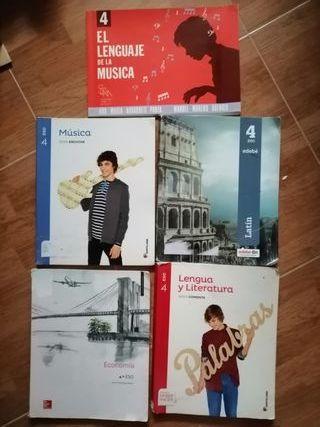 libros 4 ESO. Colegio Lagomar