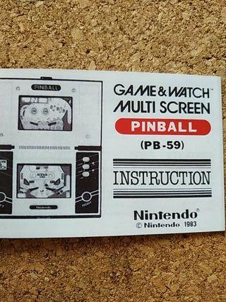 Manual Nintendo Pinball